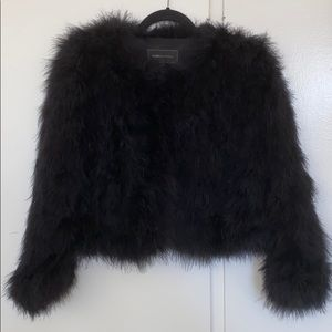 Cropped BCBG Maxazria Feather Jacket